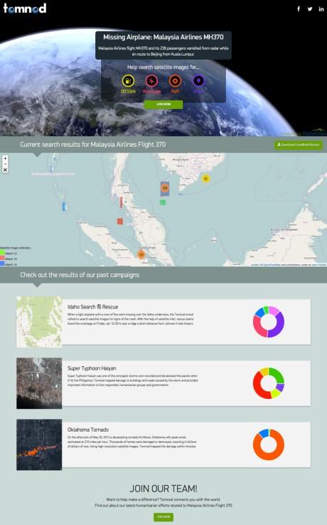 tomnod-homepage-update-via-partecipactive